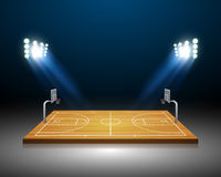 Basketball field. Vector illustration of 3d Basketball field Royalty Free Stock Photos