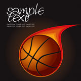 Basketball Fire Ball 1. Vector Drawing Royalty Free Stock Images