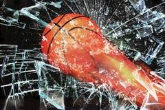 Basketball on Fire. Stock Image