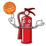 With basketball fire extinguisher character cartoon. Vector illustration Stock Image