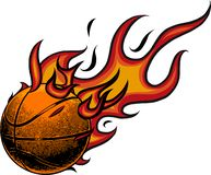 Basketball on fire. Illustration on white background royalty free illustration
