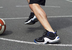 Basketball First Step Royalty Free Stock Photos