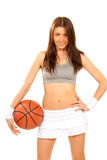 Basketball fitness sexy young woman player Stock Photo