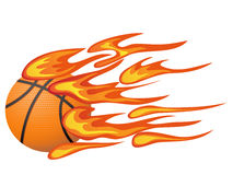 Basketball with flame Royalty Free Stock Images