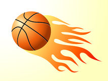 Basketball with flame. Favorite sport - basketball with flame patterns Royalty Free Stock Photo