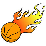 Basketball with Flames Stock Photography
