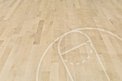 Basketball floor Stock Image