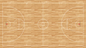 Basketball floor - regulation fiba Stock Image