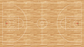 Basketball floor - regulation nba Royalty Free Stock Image