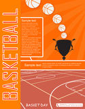 Basketball flyer. A flyer for a basketball day Royalty Free Stock Photography