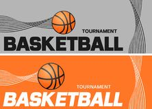 Basketball flyer or web banner design with ball icon Royalty Free Stock Photo