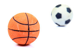 Basketball and football Royalty Free Stock Photography