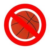 Basketball forbidden sign Royalty Free Stock Photos