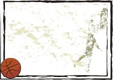 Basketball frame, backgruond, banner Royalty Free Stock Photos