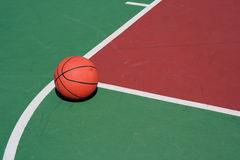 Basketball at free throw line Royalty Free Stock Photography