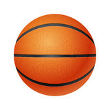 Basketball, front  view, isolated on white Royalty Free Stock Images