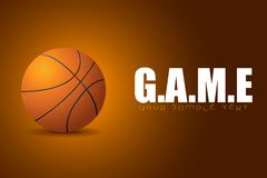 Basketball in Game Background Royalty Free Stock Photos