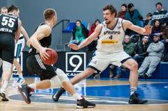 basketball game bc dnipro vs bc cherkasski mavpi ukrainian championship Stock Images