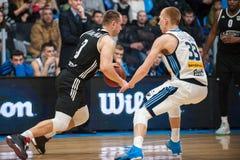 basketball game bc dnipro vs bc cherkasski mavpi ukrainian championship Royalty Free Stock Images
