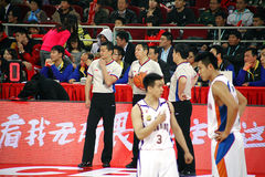 Basketball game. 2013-2014 CBA all star game was carried out in Beijing Stock Photos