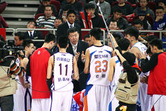 Basketball game. 2013-2014 CBA all star game was carried out in Beijing Royalty Free Stock Photography