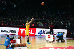 Basketball game. 2013-2014 CBA all star game was carried out in Beijing Royalty Free Stock Images