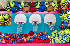 Basketball Game of Chance at Boardwalk Stock Images