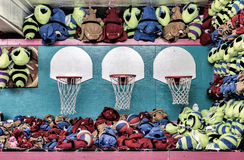 Basketball Game of Chance at Boardwalk Royalty Free Stock Photos