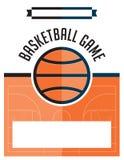 Basketball Game Flyer Illustration Stock Photo