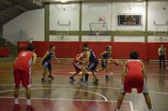 Basketball game in gym Stock Photos