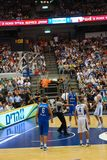 Basketball game - Italy vs. Israel Royalty Free Stock Images