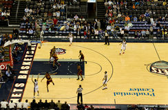 Basketball Game NJ Nets vs Cleveland Cavaliers Royalty Free Stock Photo