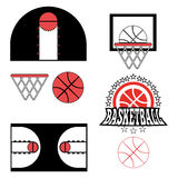 Basketball Game Objects Icons Stock Photography
