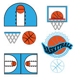 Basketball Game Objects Icons Royalty Free Stock Photos