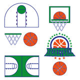 Basketball Game Objects Icons Royalty Free Stock Images