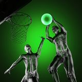 Basketball game player Royalty Free Stock Image