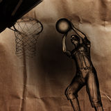 Basketball game player painted Stock Images