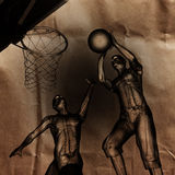 Basketball game player painted Stock Photos