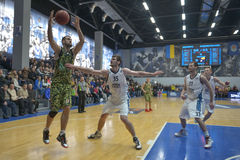 Basketball game. Ukrainian Super league Stock Photo