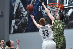 Basketball game. Ukrainian Super league Royalty Free Stock Image
