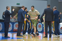 Basketball game. Ukrainian Super league Royalty Free Stock Images