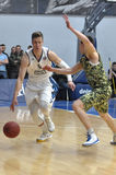 Basketball game. Ukrainian Super league Royalty Free Stock Photography