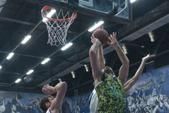 Basketball game. Ukrainian Super league Royalty Free Stock Photo