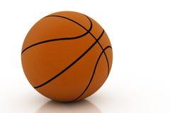 Basketball getrennt auf Weiß lizenzfreies stockbild