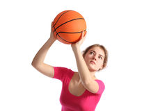 Basketball girl Royalty Free Stock Photo