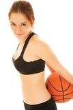 Basketball Girl #3 Stock Images