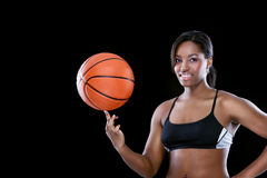 Basketball girl Stock Image