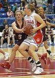 Basketball girls drive Royalty Free Stock Photo