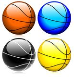Basketball glassy set  Stock Photography