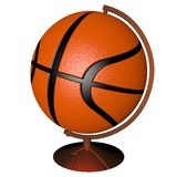 Basketball globe. Isolated over white background, 3d render, square image Royalty Free Stock Photography